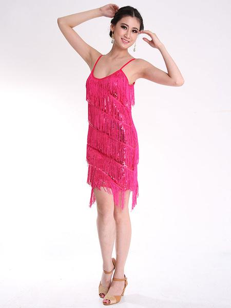 Adult Latin Dance Tassel Dress фото