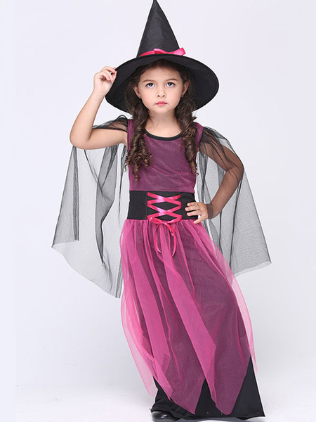 Halloween Rose Red Witch Costume for Kid фото