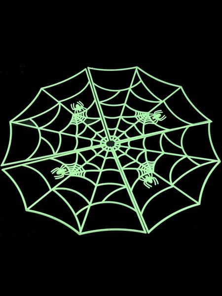 Halloween Green Plastic Spider Web фото
