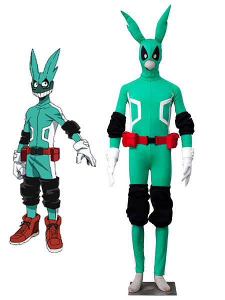 Boku No Hero Academia BNHA Battle For All Midoriya Izuku Green Fighting Uniform Anime Cosplay Costume Halloween