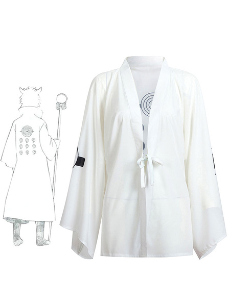 Naruto Shippuden Rikudo Sennin Ootutuki Hagoromo Summer Kimono Anime Cosplay Costume