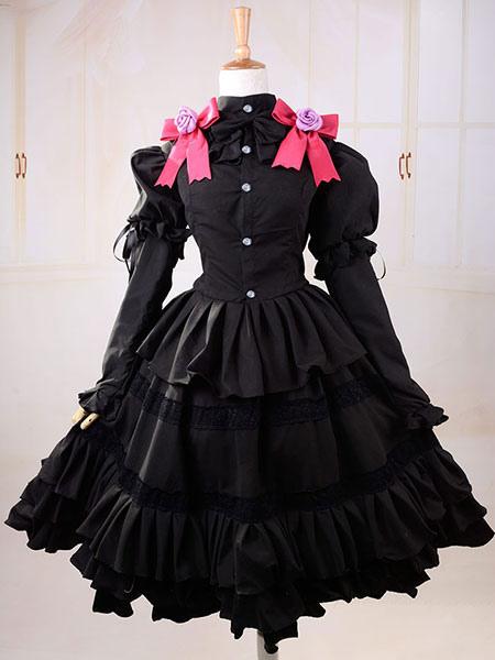 Date A Live Tokisaki Kurumi Halloween Cosplay Costume Gothic Lolita Dress фото