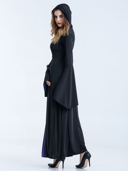 Halloween Costumes Witch Women's Long Dress With Hood фото