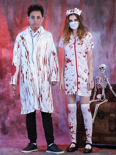 Хэллоуин костюмы Белый пальто врач мужской