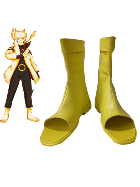 Uzumaki Naruto Nine-Tails Chakra Mode Cosplay Shoes фото