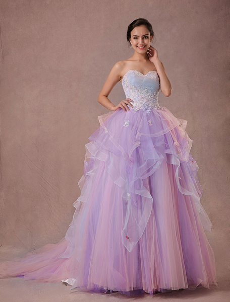 Ulle Pagent Dress Lace Beading Quinceanera Dress Chapel Train A-line Sweetheart Strapless Luxury Pri фото