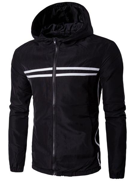 Мужская спортивная куртка с капюшоном с длинным рукавом молнии легкая куртка