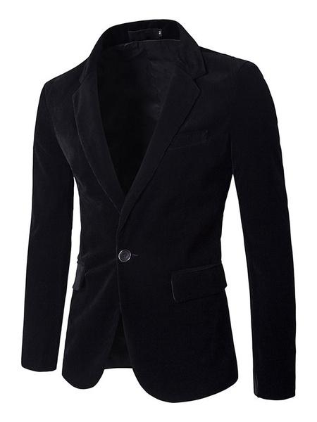 Black Sports Jacket Men's 1-button Casual Blazer Jacket фото