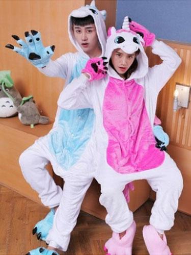 Kigurumi Pajama Hippo Onesie Flannel Couple Costume фото