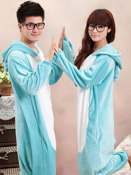 Kigurumi Pajama Koala Onesie Blue Flannel Animal Costume For Couple фото