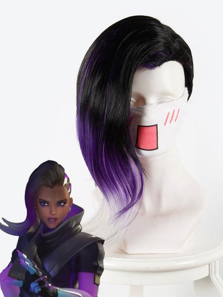 Overwatch Sombra Cosplay Wig Halloween