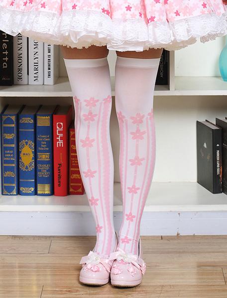 Sweet Lolita Stockings Printed Lolita Knee High Socks