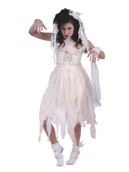 Halloween Corpse Bride Costume White Women's Mummy Costume фото