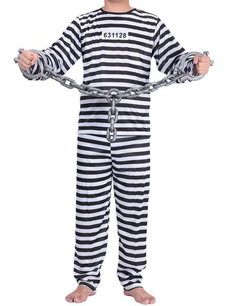 Halloween Prisoner Handcuff Costume Plastic Convict Costume Chain Cuffs фото