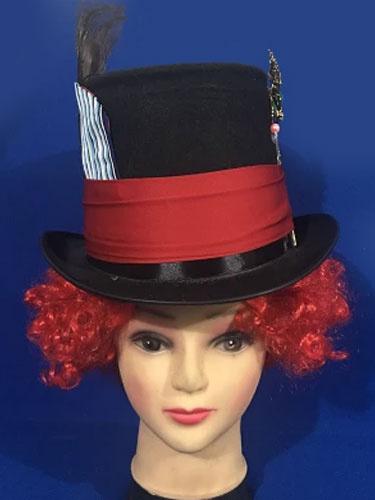 Halloween Alice In Wonderland Hat Costume Men's Top Hat Clown Cosplay Costume фото
