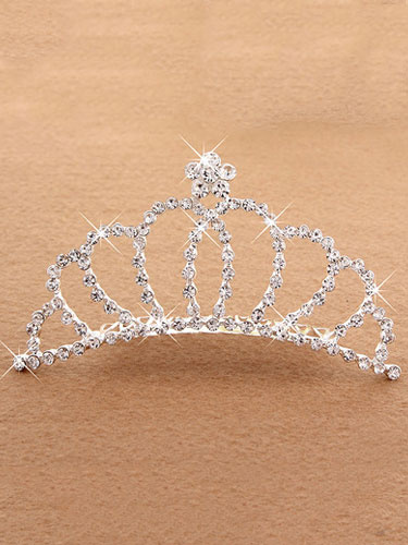 Ballet Dance Tiara Silver Princess Hair Comb Beaded Party Hair Accessories For Kids фото