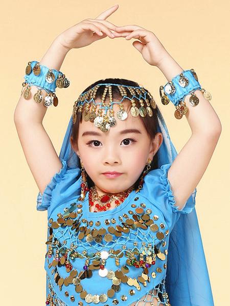 Bauchtanz Armband Kostüm Kind Chiffon hängiger Manschette Bollywood Tanz Schmuck