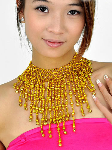Gold Necklace Belly Dance Costume Bollywood Dance Jewelry Accessories For Women