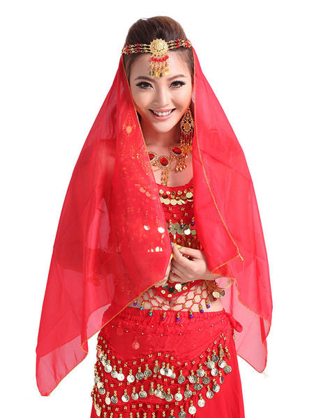 Belly Dance Veil Red Women's Belly Dancing Costume Accessories фото