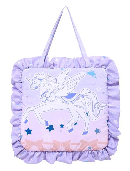 Sweet Lolita Bag Purple Ruffle Horse Print Lolita Handbag фото
