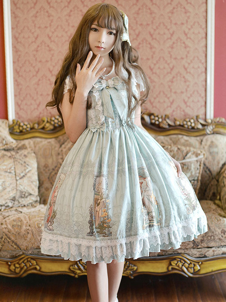 Sweet Lolita Hair Bows Blue Hairpins Lolita Accessories фото