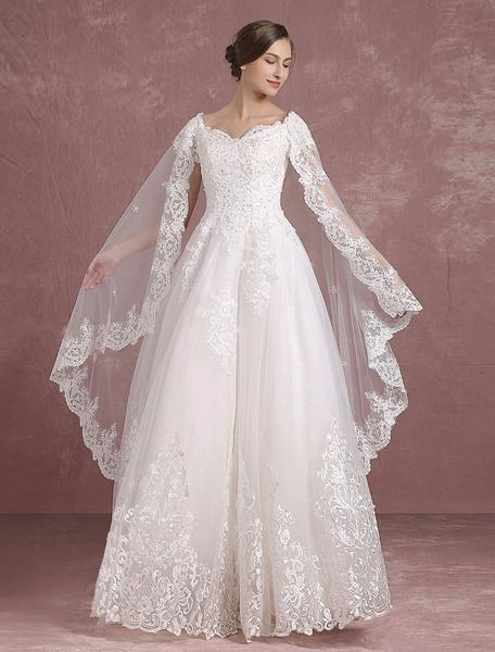 Robes de mariée d'été 2017 Robe de mariée en dentelle V Neck Applique Beading Back Cutout A Line