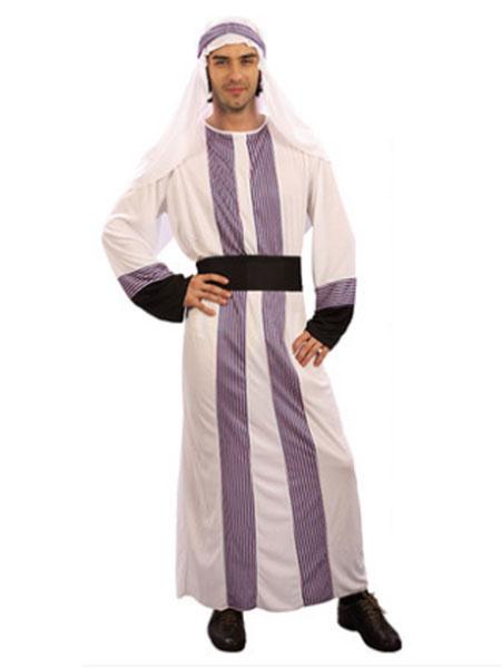Arabian Night Costume Halloween Men's Gown Outfit Asian Costume Milanoo