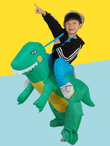 Ride On Costume Kids' Green Rapter Carrier Carnival Inflatable Suit фото