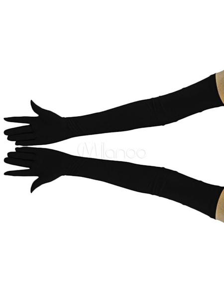 Image of Carnevale Guanti in fibra di poliestere guanti tinta unito per adulti unisex Halloween