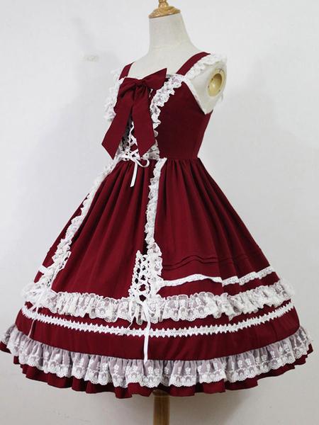 Sweet Lolita Jsk Skirt Jumper Antique Dolls Kawaii Alta Vita Jsk Con Ruffles