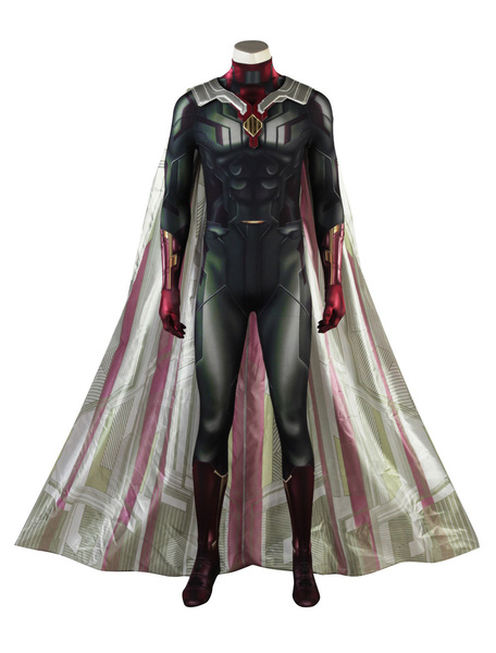 Image of Avengers 3 Infinity War Vision Halloween Cosplay Costume
