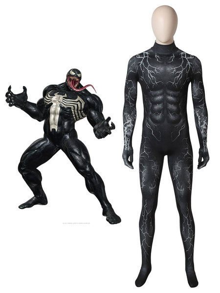 Image of Venom 2019 Movie Eddie Brock Halloween Cosplay Cosume Zentai Suit
