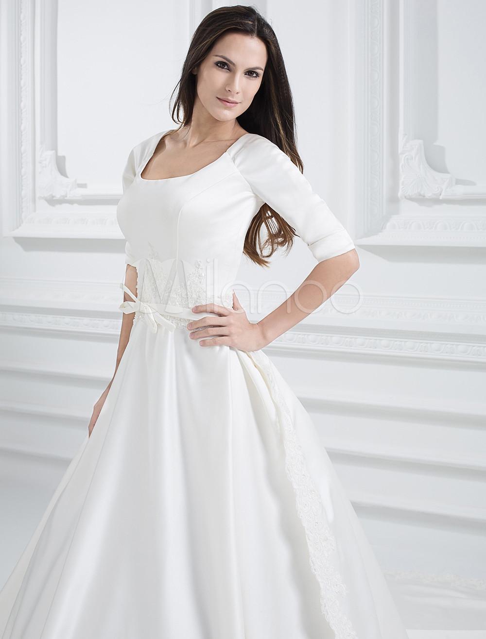 Modern-White-Satin-Jewel-A-line-Wedding-Dress-122520-7.jpg