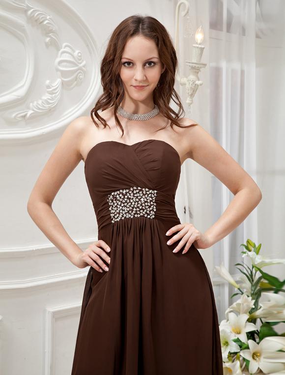 Chocolate Short Dresses