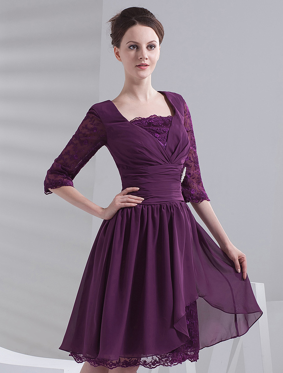 Grape-Square-Neck-Half-Sleeves-Knee-Length-Chiffon-Prom-Dresses-123888-7.jpg