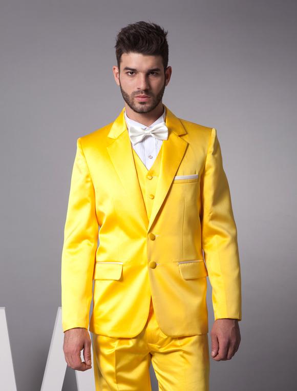Vestito Matrimonio Uomo Giallo : Vestito giallo da uomo modelli alla moda di abiti