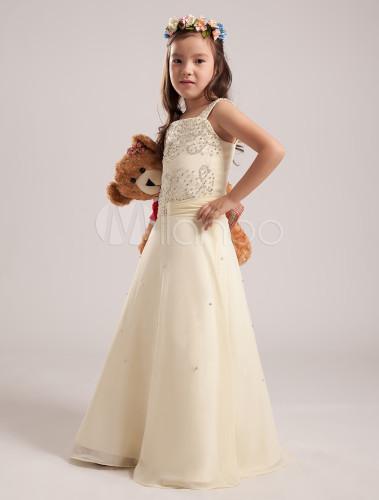 Vestidos color beige para niña