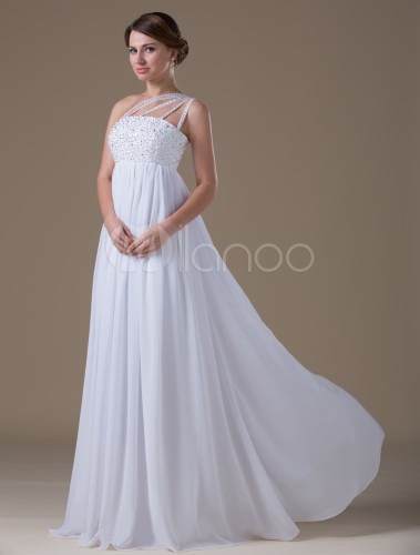 Milanoo Maternity Wedding Dresses - Short Hair Fashions