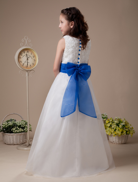 Flower Girl Dresses In Soft White 30