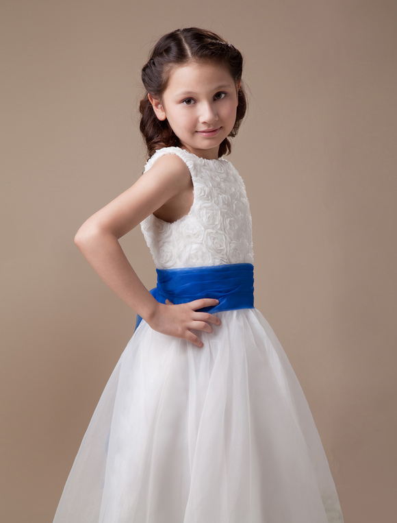 Flower Girl Dresses In Soft White 121
