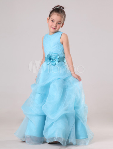 Robe bleu ciel petite fille