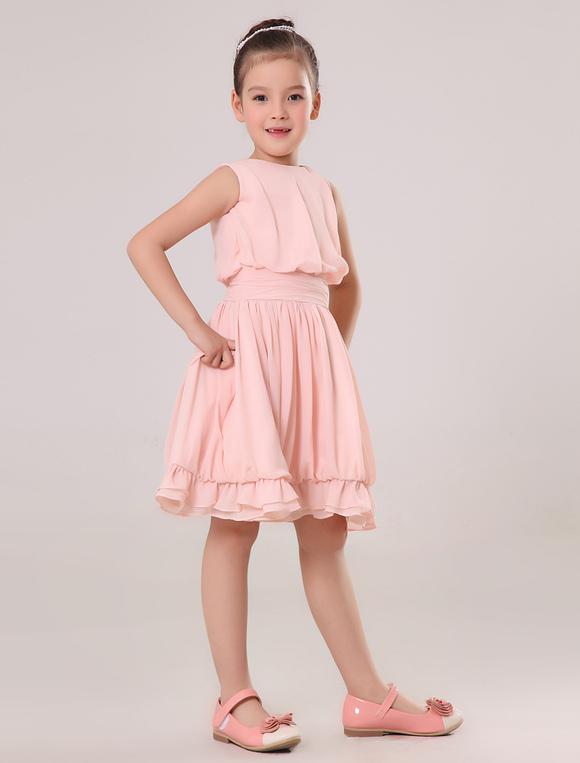 Vestido Para Las Damitas De Chif 243 N Color Melocot 243 N Con