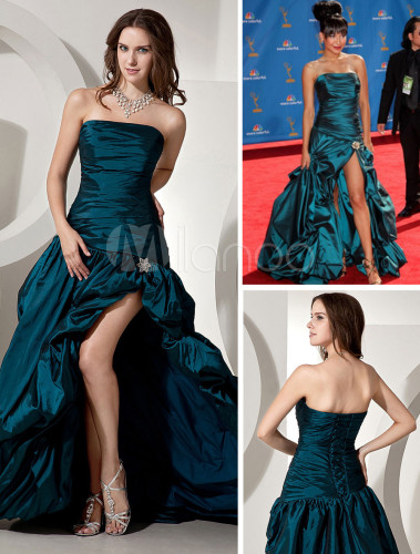 Green-taffeta-strapless-cannes-film-festival-dress-100842-851268