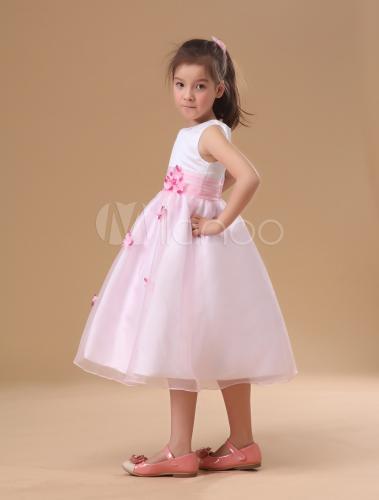 ... Tone Flower Girl Dress Sash Flowers Tulle Princess Dress - Milanoo.com