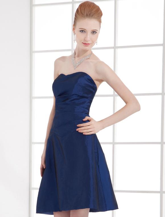 Robe demoiselle d 39 honneur a ligne bleue royale en taffetas for Robe bleue royale pour mariage