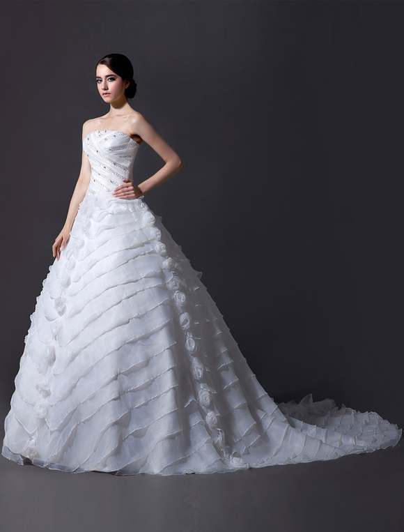 Sequin-chapel-train-organza-wedding-dress-for-bride-407559-11