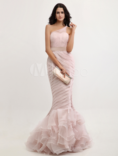 abiti da cerimonia vestito di gossip girl roso a sirena elegante in organza. Black Bedroom Furniture Sets. Home Design Ideas