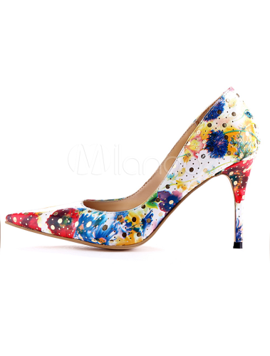 chaussures a talons multicolore