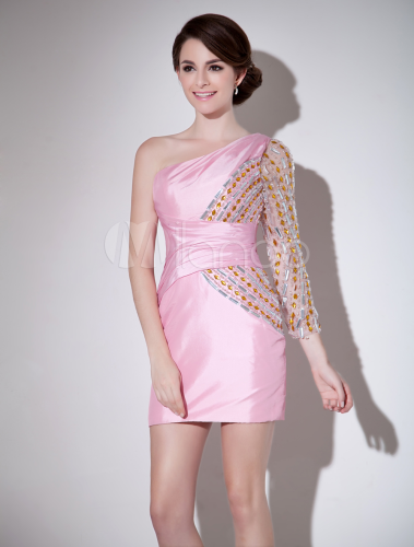 Dress Pink With Sleeves
