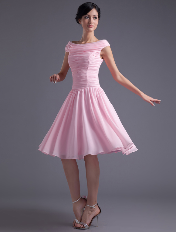 Abendkleid f r homecoming in rosa - Milanoo abendkleider ...